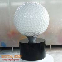 Golf ball statue,fiberglass outdoor sculpture decoration