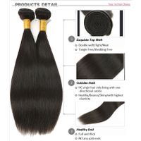 Wholesale Cheap High Quality Straight Hair Brazilian Virgin Human Hair Extension thumbnail image