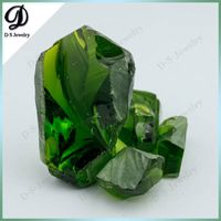 Natural Peridot Color Nanosital Rough Uncut Gemstone