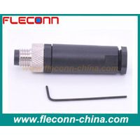 4 pin M8 male connector field assembly screw terminal IP 67 Waterproof Rate Plastic Shell