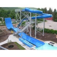 Exciting Boomerang Fiberglass Pool Slide for Children