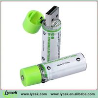 Amazing 1.2V 1450mAh USB Cell, green color, say NO to garbage battery charger