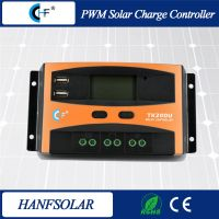 TK20DU USB Solar charge controller 10A 12V 24V auto work LCD Dispaly PWM Solar regulator Top Sale