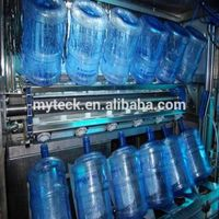 Automatic filling machine for 5 gallon bottle /19L water bottle washer