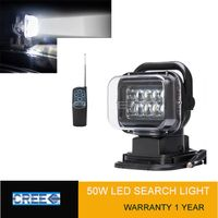 50W led remote search light hunting light led work light magnetic base spot beam light 7inch cree le