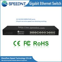 Speednt- factory 10/100/1000M 24 port Brand Gigabit Ethernet Managed Switch