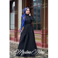 Muslima Wear Blazer Dress Black
