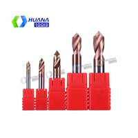HN 55HRC Carbide Spot Drills for Steel and Aluminum
