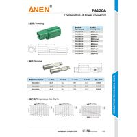 Single pole PA75 75Amperes 600V 6-12AWG UL RoHS Certificated Anen Power Connector