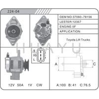 REBULIT AUTO TOYOTA FOR ALTERNATOR MOTOR 37060-78156 12357