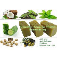 Greentea-Menthol-Cucumber Handmade Soap