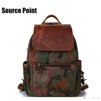 Fashion Multicolor rucksack canvas bag backpack for unisex