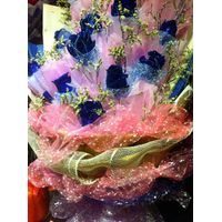 sheer organza flower wrapping