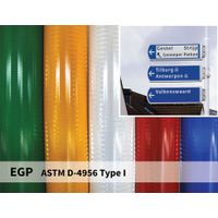 Reflective Signage Sheeting EGP 7years road sign prismatic films