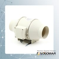 Ventilation Multi-Speed Circulation Duct Pipe Exhaust Fan (SFP-100) thumbnail image