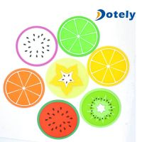 Silicone Coasters Pot Holders Dish Mats Colorful Fruit Slices thumbnail image
