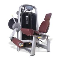 Leg extension strength machine for thigh muscle