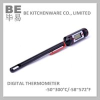 Food probe high range high accuracy digital thermometer
