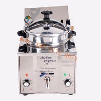 110V countertop pressure fryer kfc fried chicken fryer commercial electric pressure fryer machine