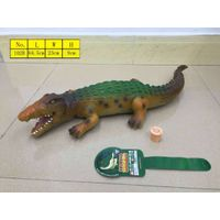 Vivid animal model Crocodile toys with sound environmental material vinyl PVC stuffed cotton