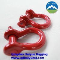 Drop forged US type bow shackle