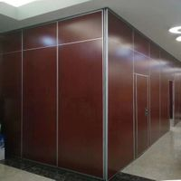 Melamine Finish Operable Office Partition Wall / Sliding Folding Partitions