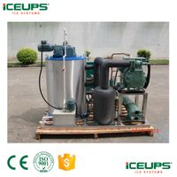 Portable commercial ice flake machine 1200kg