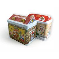 UK house shape gift tin packaging supplier