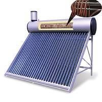 Pre-heated solar water heater with copper coil thumbnail image