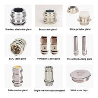 Stainless steel Brass anti-bending cable waterproof connector thumbnail image