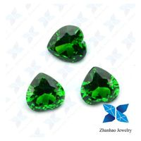 wuzhou charming 8*8mm heart shape cubic zirconia price for necklace