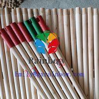 Smooth varnishing wooden broom handles / painted wooden broom stick thumbnail image