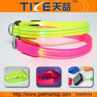 nylon led dog collars dog supply from china TZ-PET2110F
