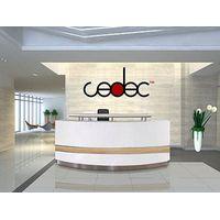 commercial modern office floor wood reception executive computer desk design furniture for sale #QT2