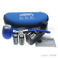 HOT!!! e pipe vaporizer k1000 epipe wholesale e-pipe vaporizers 18350 900mAh Battery, vaporizer k100
