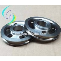 wire drawing tungsten carbide coated pulley for wire and cable industry