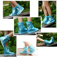 Foldable Light PVC Rain Boot Instead of Traditional Heavy Rubber Boot