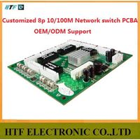 mini design OEM/ODM 8 Port 10/100M 4pin connector Unmanaged Half-Full duplex Lay2 PCBA Module