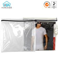 Hot sale Custom zipper clear garment poly bag