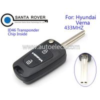 Flip remote key for Hyundai Verna 3 Button 433mhz ID46 Chip