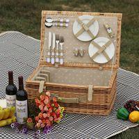 wicker basket picnic basket storage basket for garden using