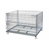 Collapsible Warehouse  wire mesh metal container