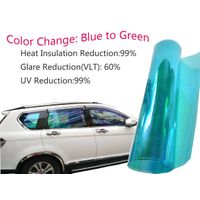 VLT60% Chameleon Window Tint Film SRC Color:Blue to Green
