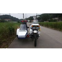 White XJ50cc Police Motorcycle With Sidecar