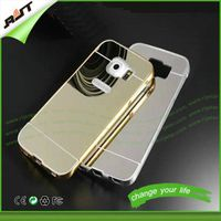 Luxury Aluminum Metal Bumper PC Back Mirror Cases for Samsung Galaxy S6