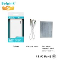 8000mah mobile power bank with LED display