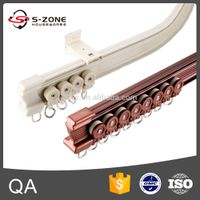 aluminum bendable flexible curtain track rail with runners