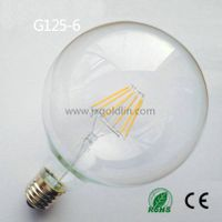 LED FILAMENT LAMP G125-6 with CE and ROHS
