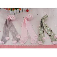 pink spotted kids tights girls'100% cotton pantyhose stripped thumbnail image
