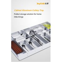 Aluminum Cutlery Tray for 400~900 Cabinet